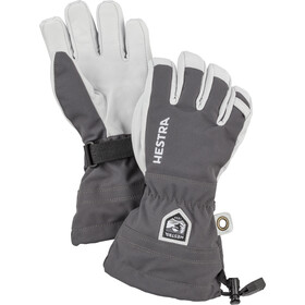 Hestra Army Leather Heli Ski 5-Finger Handschuhe Kinder grey